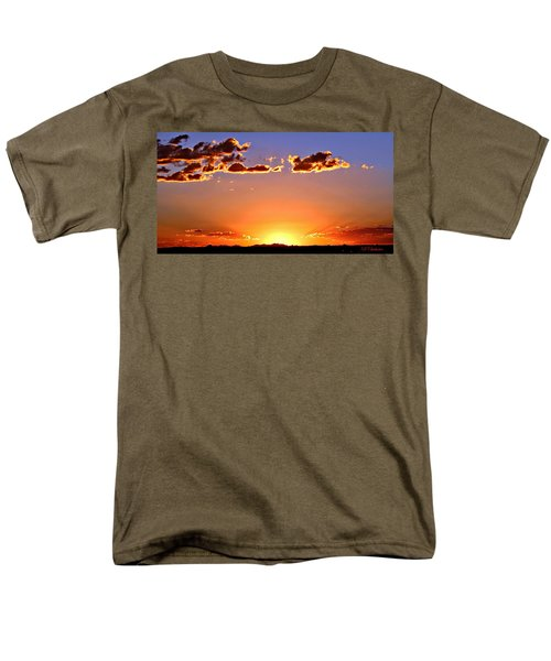Men's T-Shirt  (Regular Fit) featuring the photograph New Mexico Sunset Glow by Barbara Chichester