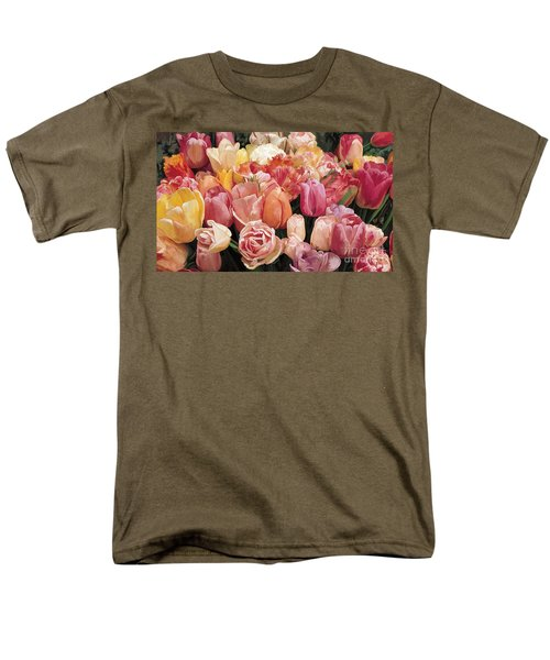 Men's T-Shirt  (Regular Fit) featuring the painting Nikki's Tulips by Tim Gilliland