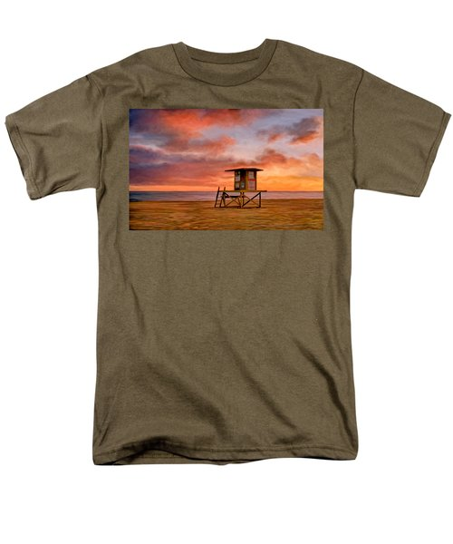 No Lifeguard On Duty At The Wedge Men's T-Shirt  (Regular Fit) by Michael Pickett