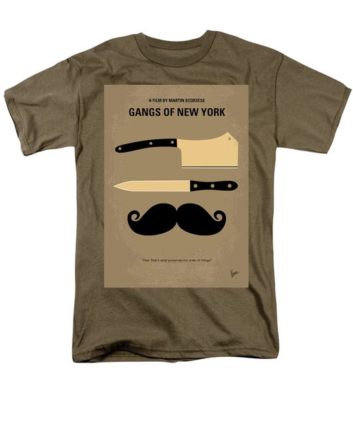 No195 My Gangs Of New York Minimal Movie Poster Men's T-Shirt  (Regular Fit)