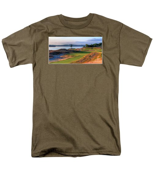 Men's T-Shirt  (Regular Fit) featuring the photograph North By Northwest - Chambers Bay Golf Course by Chris Anderson