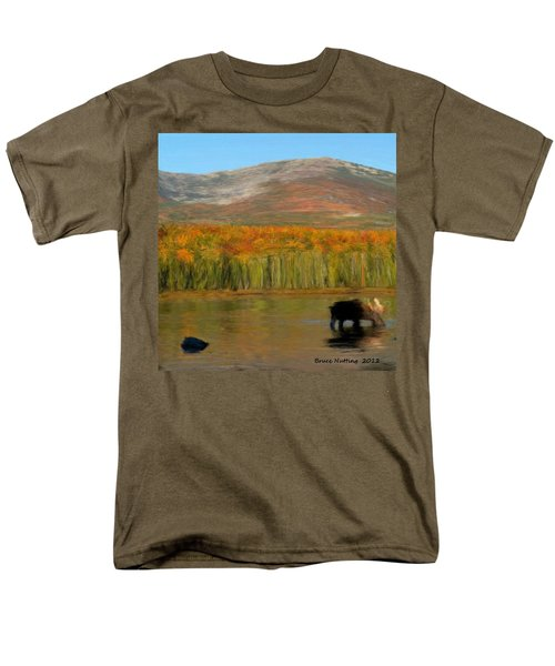 Men's T-Shirt  (Regular Fit) featuring the painting Northwest Moose by Bruce Nutting