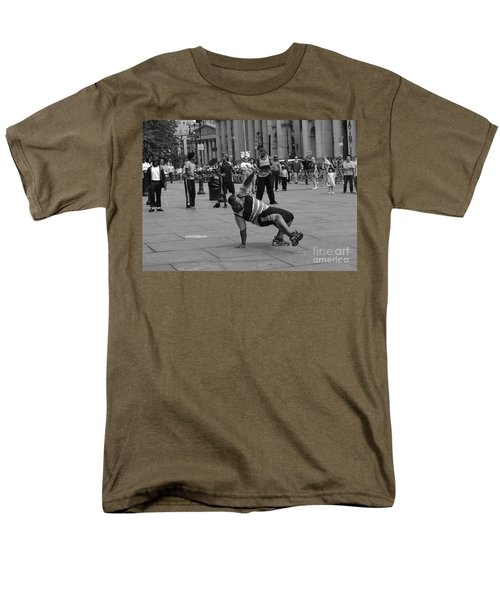 Men's T-Shirt  (Regular Fit) featuring the photograph Ny City Street Performer by Angela DeFrias