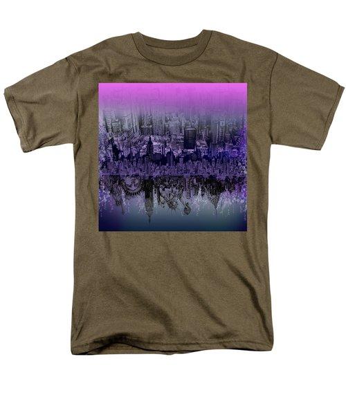 Nyc Tribute Skyline Men's T-Shirt  (Regular Fit) by Bekim Art