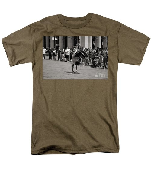 Men's T-Shirt  (Regular Fit) featuring the photograph Nycity Street Performer by Angela DeFrias