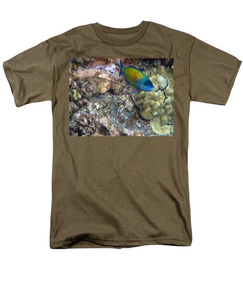 Men's T-Shirt  (Regular Fit) featuring the photograph Ocean Color by Peggy Hughes