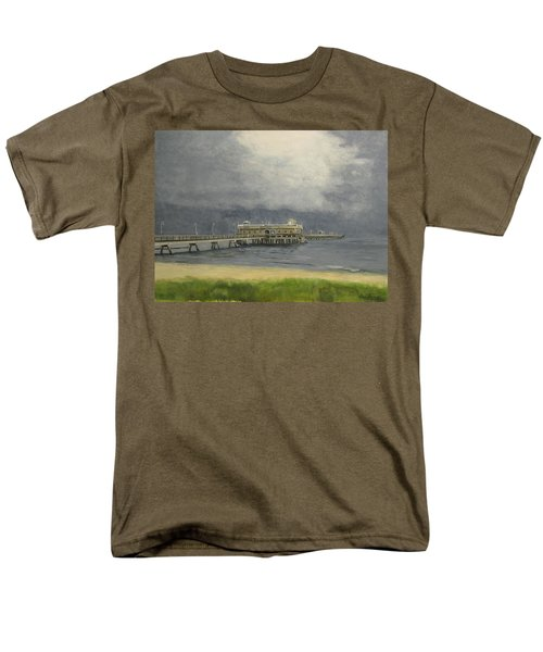 Ocean View Pier Men's T-Shirt  (Regular Fit) by Stan Tenney