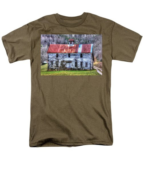 Old Country Schoolhouse Men's T-Shirt  (Regular Fit) by Tom Culver