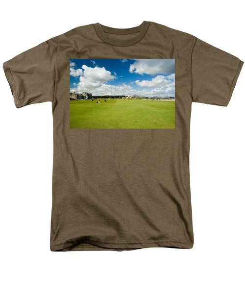 Men's T-Shirt  (Regular Fit) featuring the photograph Old Course Fairways by Jeremy Voisey