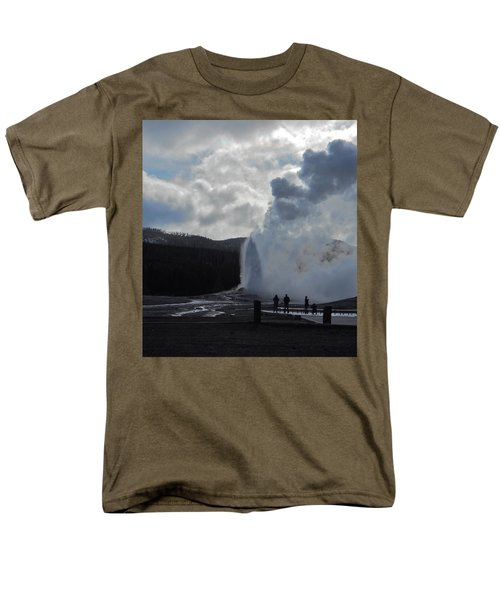 Old Faithful Morning Men's T-Shirt  (Regular Fit) by Michele Myers