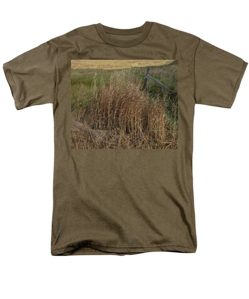 Old Fence Line Men's T-Shirt  (Regular Fit) by Donald S Hall