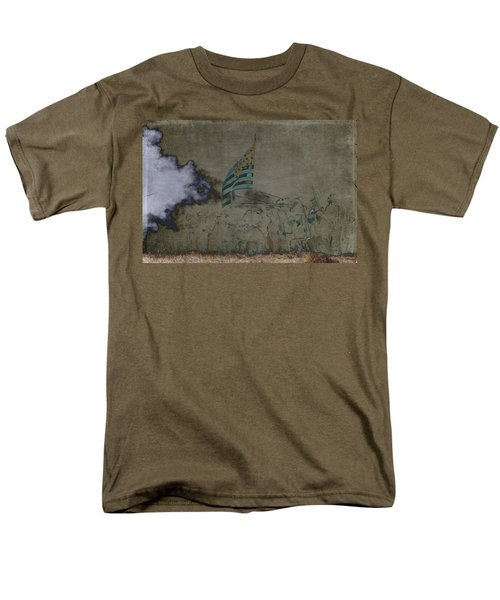 Old Glory Standoff Men's T-Shirt  (Regular Fit) by Wes and Dotty Weber