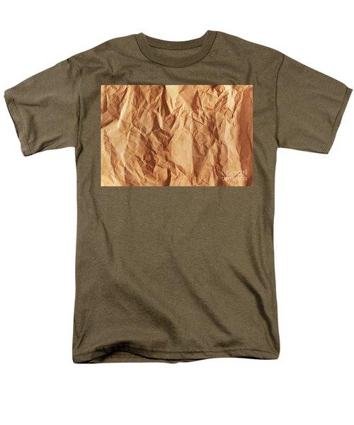 Old Grunge Creased Paper Texture. Retro Vintage Background Men's T-Shirt  (Regular Fit) by Michal Bednarek