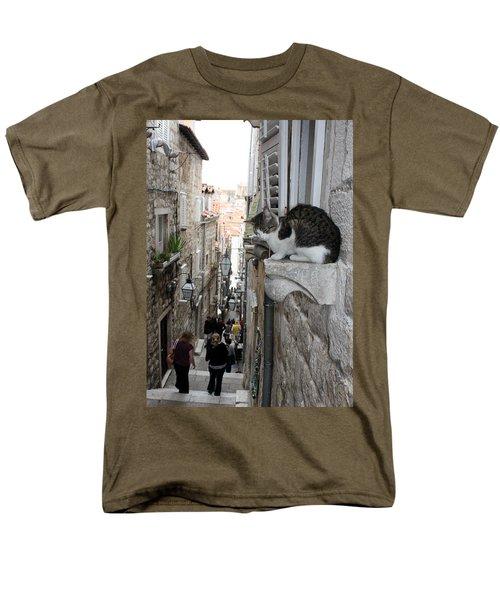 Old Town Alley Cat Men's T-Shirt  (Regular Fit) by David Nicholls