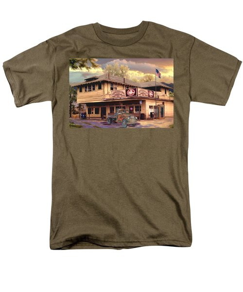 Old Town Irvine Country Store Men's T-Shirt  (Regular Fit) by Ron Chambers