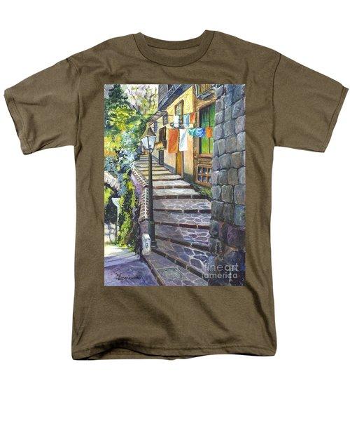 Old Village Stairs - In Tuscany Italy Men's T-Shirt  (Regular Fit) by Carol Wisniewski