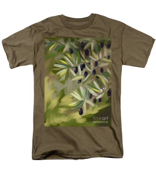Men's T-Shirt  (Regular Fit) featuring the painting Olive Tree by Go Van Kampen