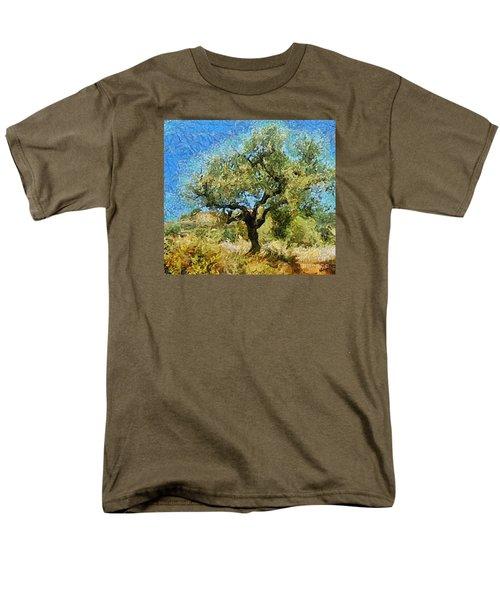 Olive Tree On Van Gogh Manner Men's T-Shirt  (Regular Fit)