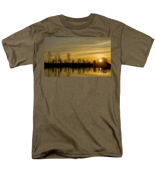 Men's T-Shirt  (Regular Fit) featuring the photograph On Golden Pond by Nick  Boren