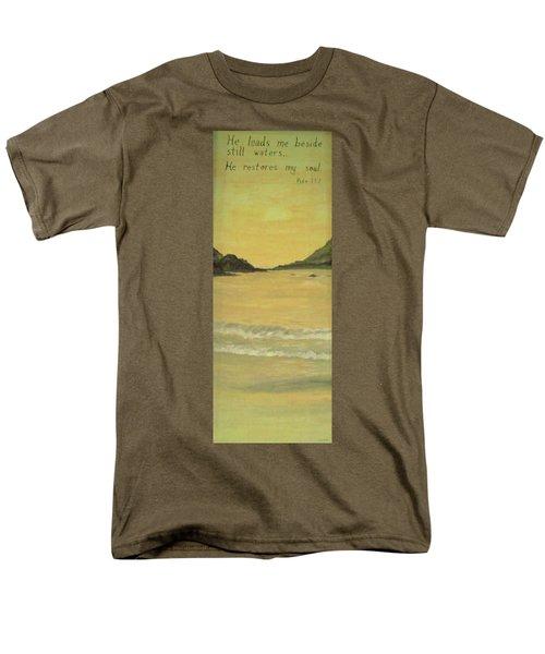 Orange Beach Men's T-Shirt  (Regular Fit) by Christy Saunders Church