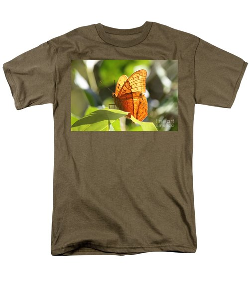 Orange Butterfly Men's T-Shirt  (Regular Fit) by Jola Martysz