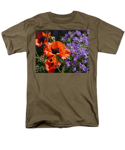 Orange Flowers Men's T-Shirt  (Regular Fit) by Alan Socolik