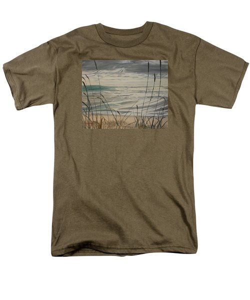 Men's T-Shirt  (Regular Fit) featuring the painting Oregon Coast With Sea Grass by Ian Donley
