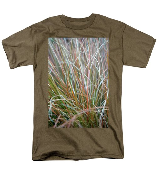 Ornamental Grass Abstract Men's T-Shirt  (Regular Fit) by E Faithe Lester