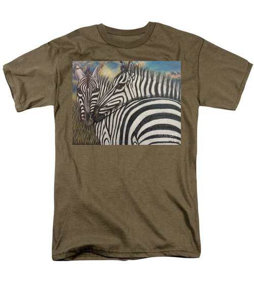 Our Stripes May Be Different But Our Hearts Beat As One Men's T-Shirt  (Regular Fit) by Kimberlee Baxter