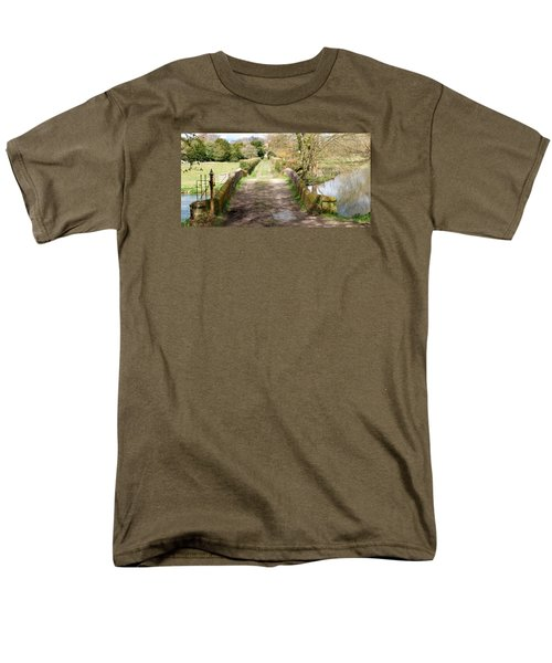 Men's T-Shirt  (Regular Fit) featuring the photograph Over The River by Wendy Wilton