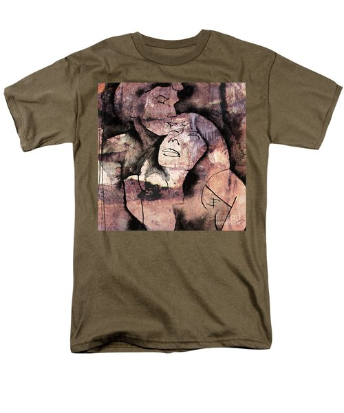 Men's T-Shirt  (Regular Fit) featuring the painting Overlaps I by Paul Davenport
