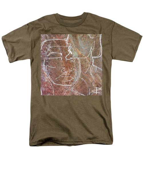 Men's T-Shirt  (Regular Fit) featuring the drawing Overlaps II by Paul Davenport