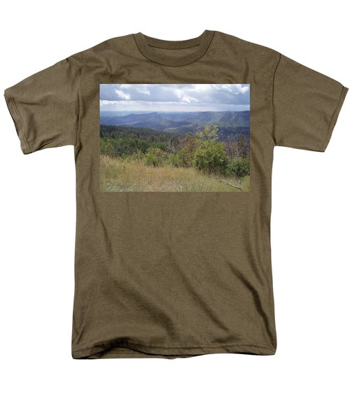 Men's T-Shirt  (Regular Fit) featuring the photograph Overlook Into The Mist by Fortunate Findings Shirley Dickerson