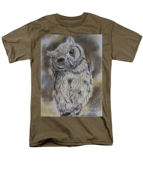 Men's T-Shirt  (Regular Fit) featuring the drawing Owl by Laurianna Taylor