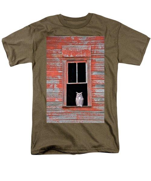 Owl Window Men's T-Shirt  (Regular Fit) by Leland D Howard