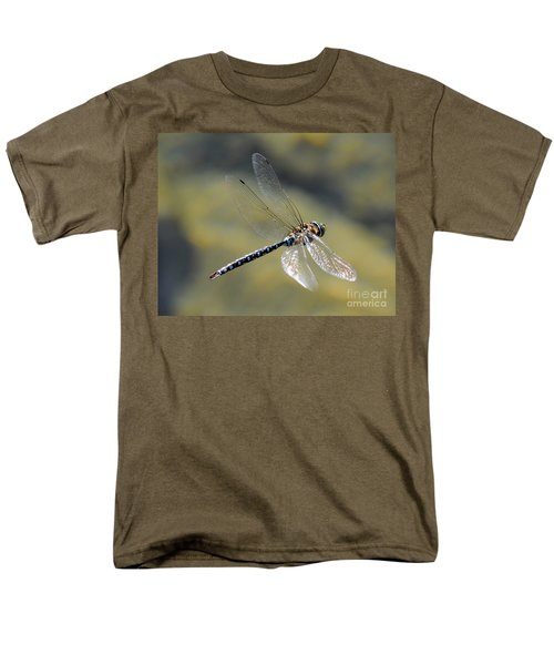 Men's T-Shirt  (Regular Fit) featuring the photograph Paddletail Darner In Flight by Vivian Christopher