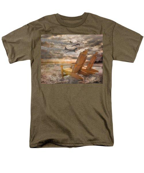 Pairs Along The Coast Men's T-Shirt  (Regular Fit) by Betsy Knapp