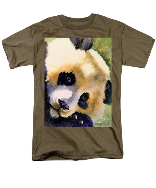 Panda Cub Men's T-Shirt  (Regular Fit) by Bonnie Rinier