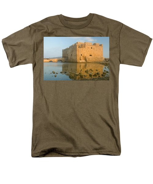 Paphos Harbour Castle Men's T-Shirt  (Regular Fit) by Jeremy Voisey