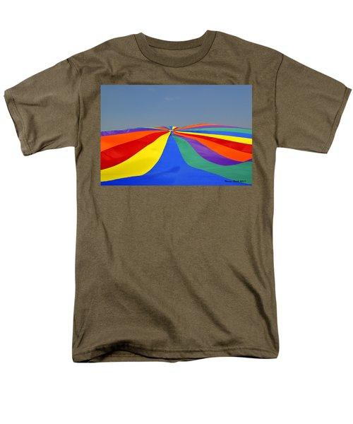 Parachute Of Many Colors Men's T-Shirt  (Regular Fit) by Verana Stark