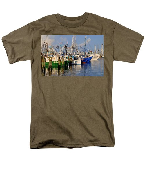 Pass Christian Harbor Men's T-Shirt  (Regular Fit) by Charlotte Schafer