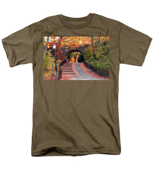 Path Of Leaves Men's T-Shirt  (Regular Fit) by Catie Canetti