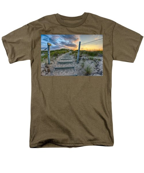 Path Over The Dunes Men's T-Shirt  (Regular Fit) by Sebastian Musial