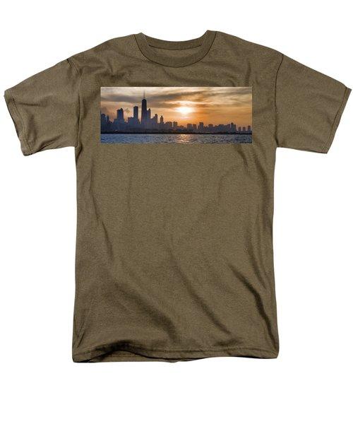 Peaceful Chicago Men's T-Shirt  (Regular Fit) by John Hansen