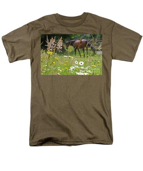 Peaceful Pasture Men's T-Shirt  (Regular Fit) by Michelle Twohig