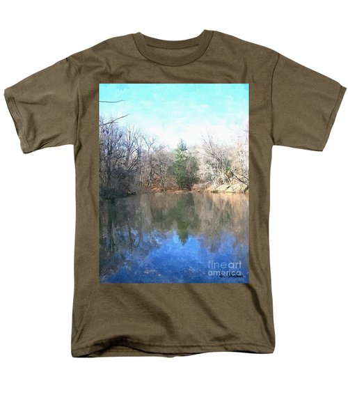Men's T-Shirt  (Regular Fit) featuring the painting Peaceful Retreat 2 by Sara  Raber