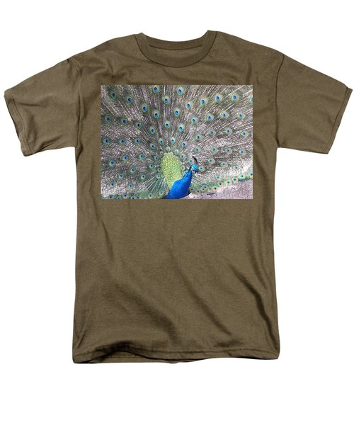 Men's T-Shirt  (Regular Fit) featuring the photograph Peacock Bow by Caryl J Bohn