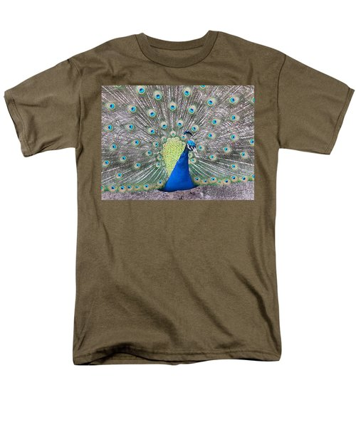 Men's T-Shirt  (Regular Fit) featuring the photograph Peacock by Caryl J Bohn