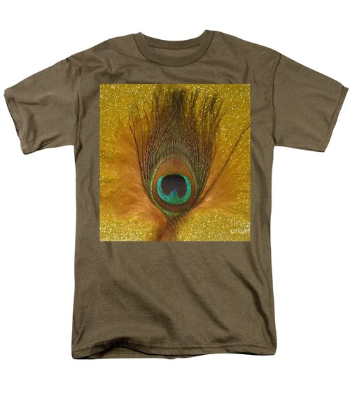 Men's T-Shirt  (Regular Fit) featuring the photograph Peacock Feather by Jeepee Aero