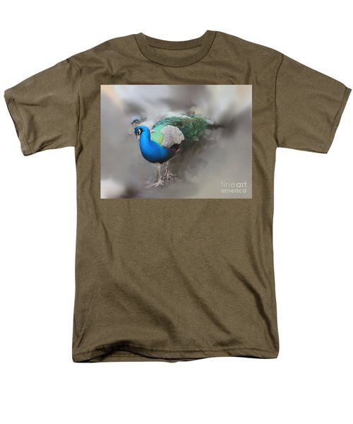 Men's T-Shirt  (Regular Fit) featuring the photograph Peacock2 by Laurianna Taylor